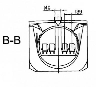 Corte tranversal de la cabina de pasaje del avión hipersónico de Airbus Defense and Space.