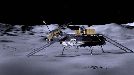 Transporte de un Rover a la Luna.