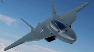 Ilustración de una posible propuesta por parte de Airbus y Dassault de cómo sería el futuro caza europeo que están proponiendo.