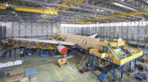 Hangar de conversión del A330 a MRTT en Getafe.