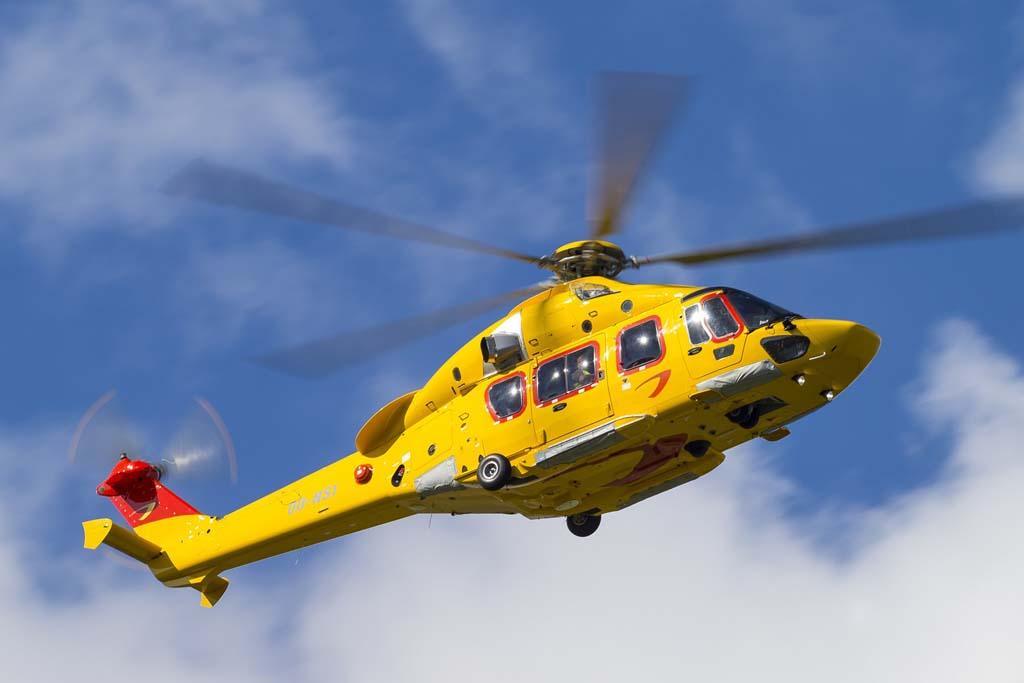 Uno de los ocho Airbus Helicopters H175 de NHV.