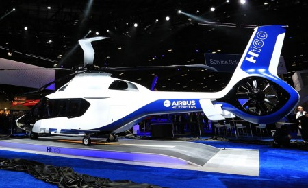 Maqueta del Airbus helicopters H160 presentada en el Heli Expo.