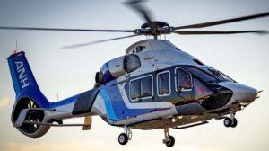 El Airbus Helicopters H160 para All Nippon Helicopters durante su primer vuelo.