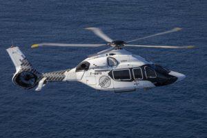Airbus Helicopters ha decorado especialmente el tercer H160 por la certificación.