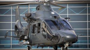 Maqueta a escaa 1:1 del Airbus Helicopters M160M portando un Sea Venom.