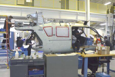 Cadena de montaje del Airbus Helicopters UH-72A en Columbuss (Misisipi) para el Ejército de EE.UU.q
