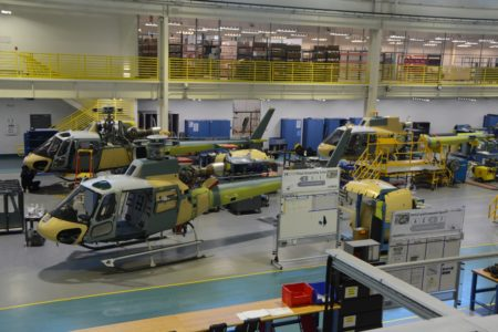 Cadena de montaje de Airbus Helicopters en Columbus (Mississippi, USA).