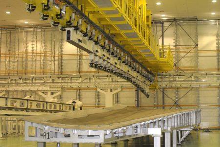 Mesa para la producción de la cubierta del ala del Airbus A350 en la factoría de Illescas.