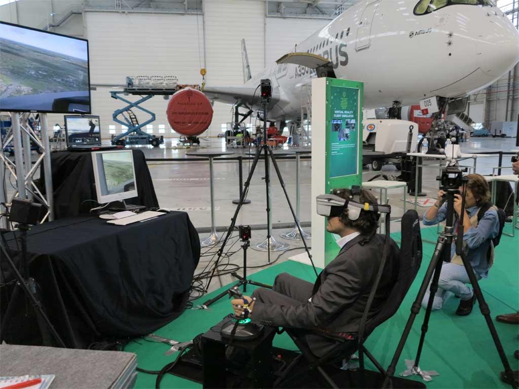 Simulador de vuelo virtual de Airbus