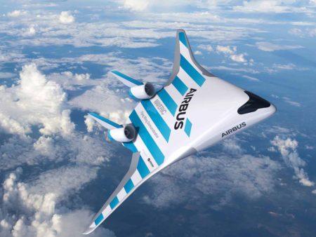Este diseño aerodinámico tiene varias ventajas sobre el tradicional de aviones comerciales.