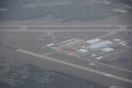 Vista aérea de las instalaciones de Airbus en Mobile.