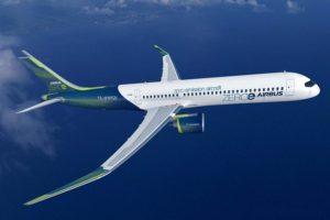 Una de las propuestas de aviones Cero Emisiones que estudia Airbus.