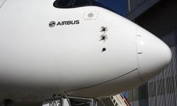 Detalle del morro, muy diferente a los demás Airbus.