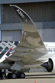 La superficie inferior del ala del Airbus A350 se realiza en la factoría de Airbus en Illescas (Toledo).