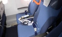 Grabadora para medir el ruido en la cabina del Airbus A350, uno de los diversos sistemas de medida instalados en la cabina.