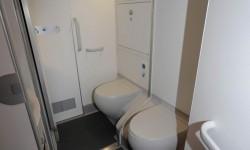 Algunos de los baños del A350 cuentan con una pared desmontable para una mejor accesibilidad.