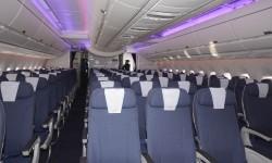 El sistema de luces de la cabina utiliza LED y puede ofrecer millones de colores.