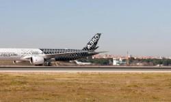 La visita del A350 F-WWCF del 19 de febrero ha sido la primera vez que el modelo ha aterrizado en Madrid. Pronto lo podremos ver también en Getafe.
