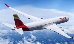 Imagen de cómo será el Airbus A350-900 con colores de Iberia. En 2018 llegará el primero.