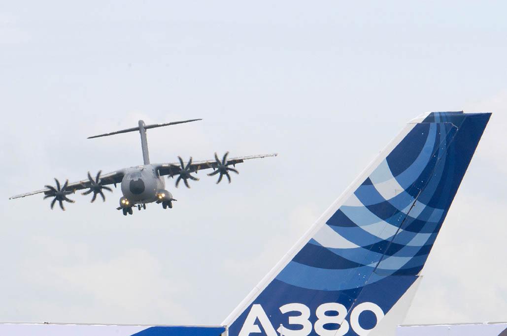 Aviones de Airbus Group en el salón de Farnborough