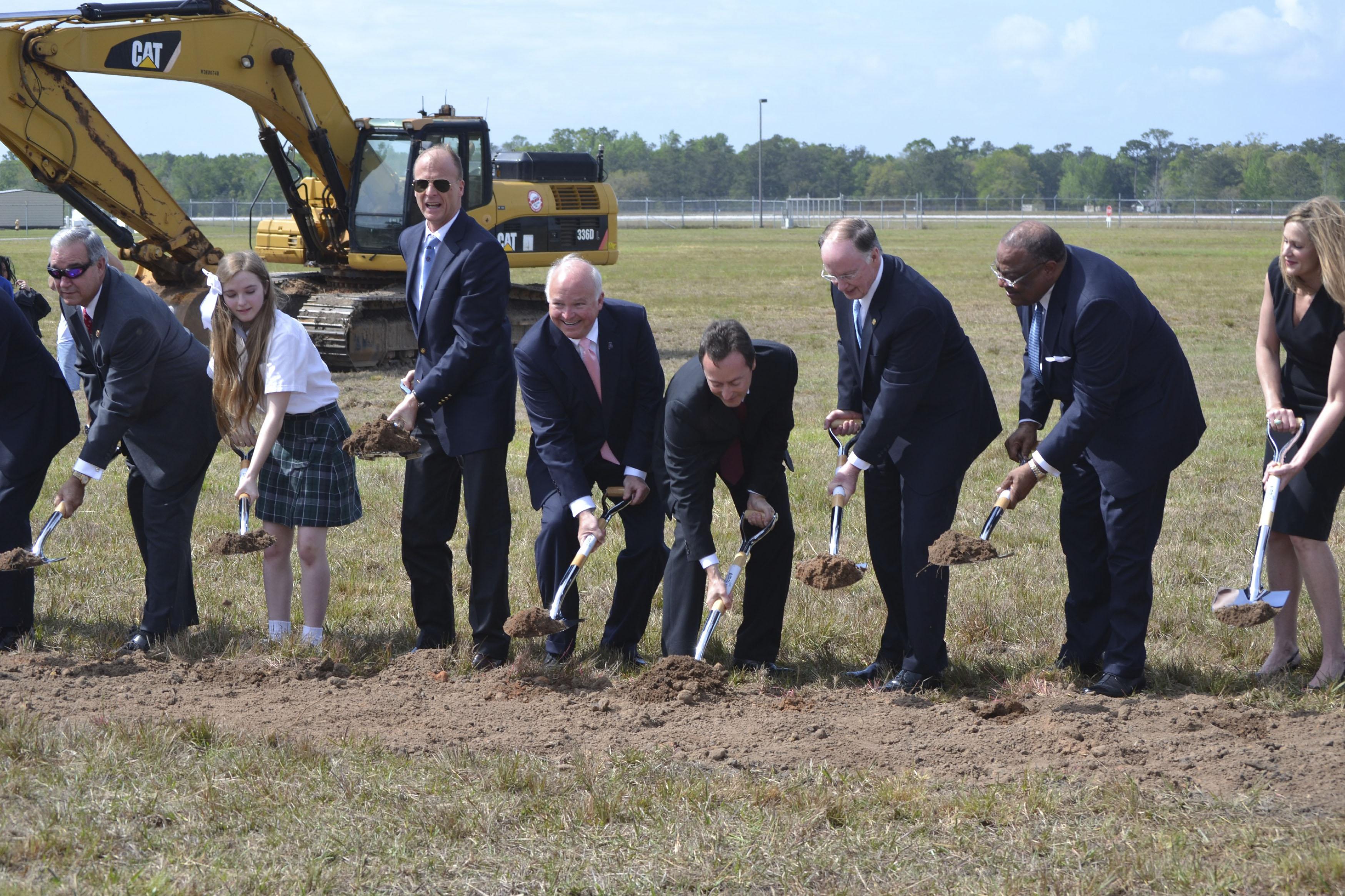 Inicio de las obras de la nueva factoría de montaje del A320 en Mobile (Alabama).
