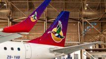 Detalle de la imagen de la aerolínea Airlink de Sud ´Africa.