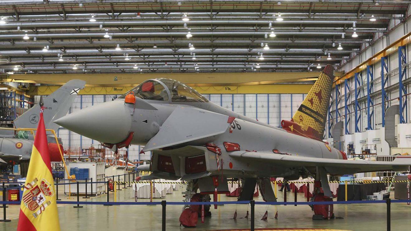 La cadena de montaje del Eurofighter en Getafe se usará ahora para modernizar los ejempalres más antiguos.