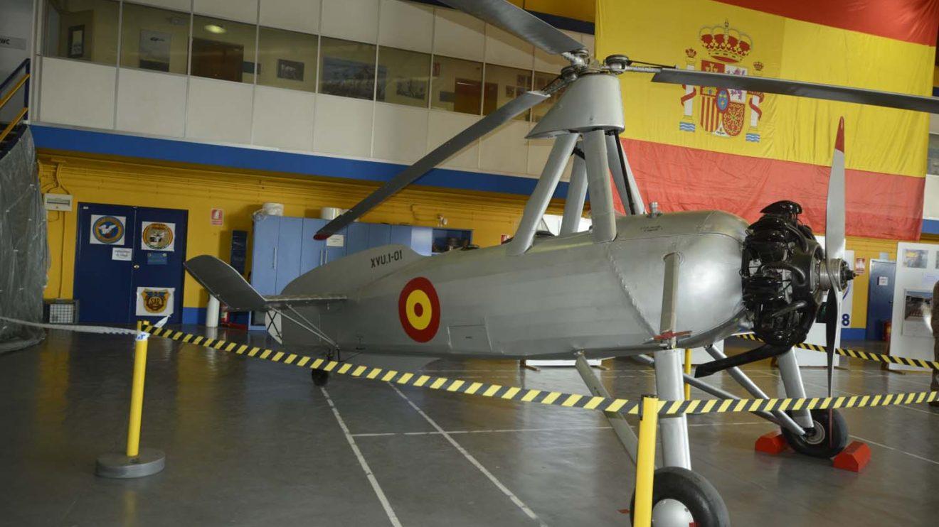El autogiro La Cierva C30 del Museo de Aeronáutica y Astronáutica.