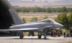 Los Eurofighter del Ala 14 mantienen de momento los indicativos del Ala 11 de Morón.