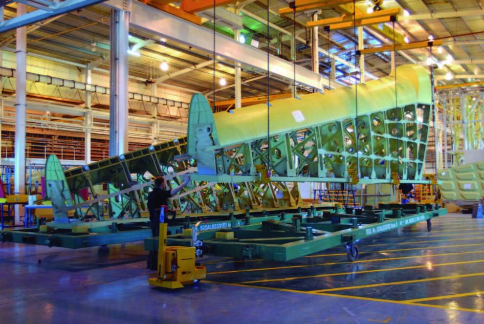 Producción en Prestwick de secciones de las alas del Airbus A380.