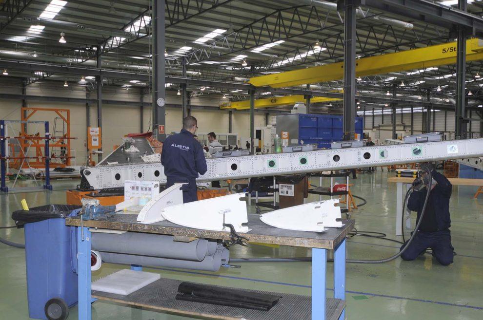 Producción de estabilizadores horizontales del Airbus A320 por parte de Alestis.
