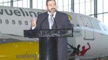 Alex Cruz en su época como presidente de Vueling en un acto de la aerolínea.