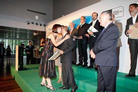 Alicia Morales recoge el galardón del Ayuntamiento de Madrid