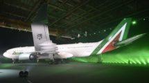 Presentación en 2015 de ka nueva imagen de Alitalia tras la entrada de Etihad en su capital social.