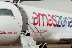 Las tres aerolíneas del Grupo Amaszonsas operan con aviones CRJ200.