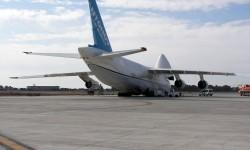 El Antonov An-124 en el aeropuerto de Sevilla San Pablo por segunda vez en un mes.