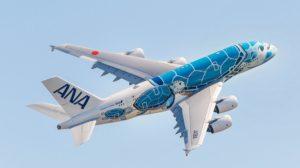 Tras la ceremonia de entrega, el primer A380 de ANA partió hacia Tokio.