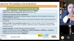 Presentación del PTA a la industria andaluza por parte de José María Pérez del CDTI.