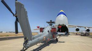 Preparación para carga en el An-124 de uno de los AH-64E para india.