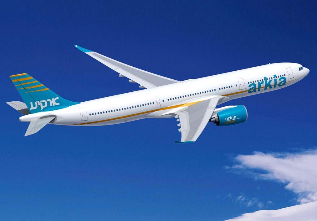 Los A330-900neo de Arkia tendrán el nuevo interior Airspace de Airbus.