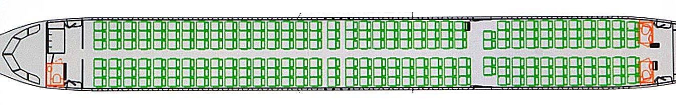 Configuración de 220 plazas elegida por Arkia para sus Airbus A321LR.