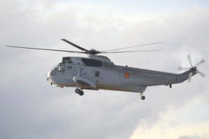 El SH-3D 01-507 a su llegada aTorrejón para participar en el festival Aire 75.