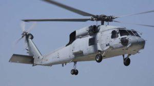 El HT.23-14/10-1015 es uno de los SH-60F de la Décima Escuadrilla, como denota el que no lleva radar bajo el fuselaje.º