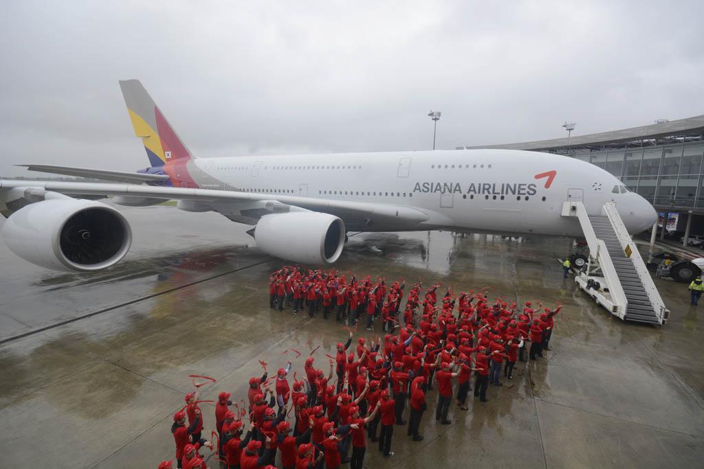Entrega del primer Airbus a380 de Asiana Airlines
