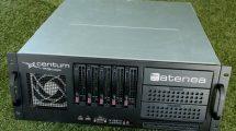 Caja del sistema Atenea de Centum para interferir el sistema de navegación de los drones haciendo posible su captura y control.