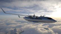 Aspecto que tendrá el Aura Aero ERA con sus seis motores eléctricos.