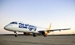 Entre las entregas de nuevos aviones de Embraer en el segundo trimestre de 2014 ha estado el primer E195 para la aerolínea britanica Aurigny.