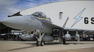 Uno de los Boeing EA-18G del Escuadrón 6 de la Fuerza Aérea de Australia.