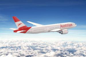 Austrian Airlines mantendrá su rojo pero usará unos títulos más grandes en el fuselaje, y la bandera austriaca de la cola, con el logo, se extenderá por el fuselaje aunque de forma diferente a como lo hace el azul de Lufthansa.