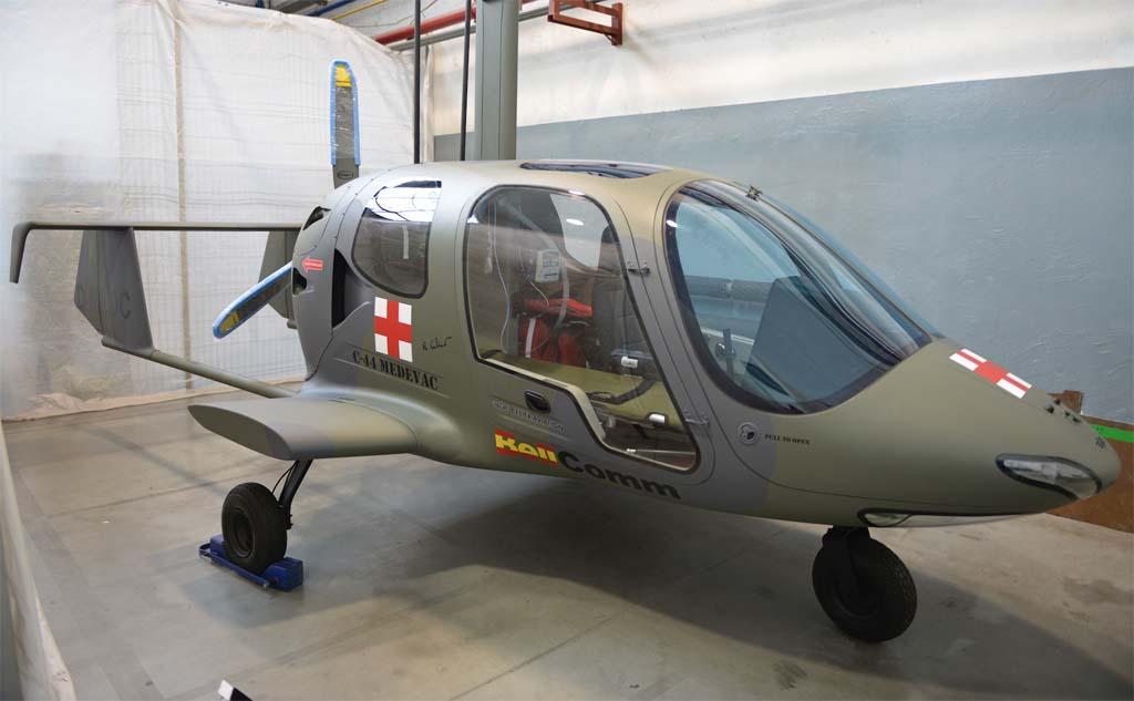 Prototipo del autogiro Bellcomm C-44.